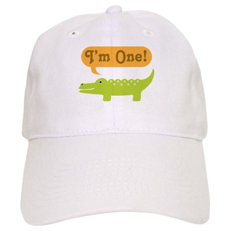 Alligator 1st Birthday Cap