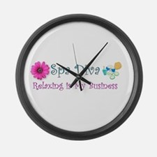 Spa Diva Large Wall Clock