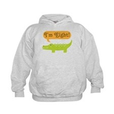 Alligator 8th Birthday Hoodie