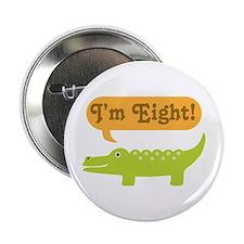 """Alligator 8th Birthday 2.25"""" Button"""