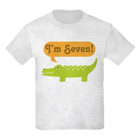 Alligator 7th Birthday Kids Light T-Shirt