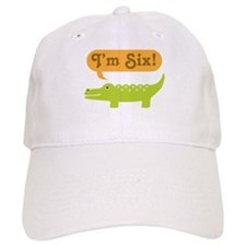 Alligator 6th Birthday Baseball Cap