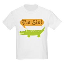 Alligator 6th Birthday T-Shirt
