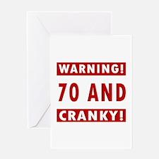 Cranky 70th Birthday Greeting Card