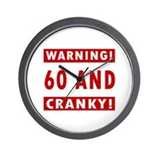 Cranky 60th Birthday Wall Clock