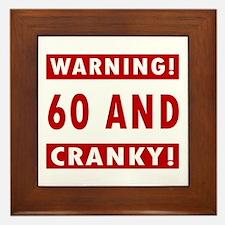 Cranky 60th Birthday Framed Tile