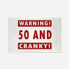 Cranky 50th Birthday Rectangle Magnet