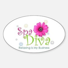 Spa Diva Sticker (Oval)