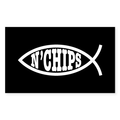 Fish n' Chips Sticker (Rectangle)