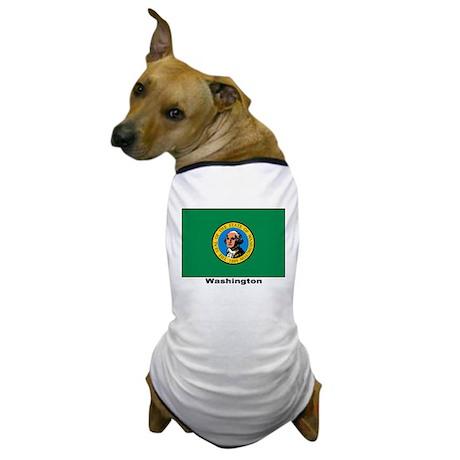Washington State Flag Dog T-Shirt