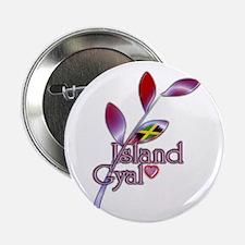"""Island Gyal twig - Jamaica - 2.25"""" Button"""