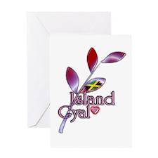 Island Gyal twig - Jamaica - Greeting Card