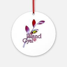 Island Gyal twig - Jamaica - Ornament (Round)