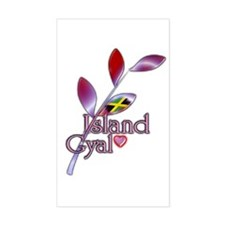 Island Gyal twig - Jamaica - Decal