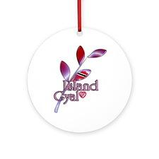 Island Gyal twig - Trini - Ornament (Round)