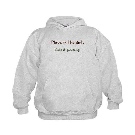 Plays in Dirt Kids Hoodie