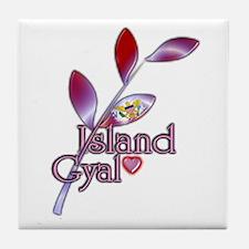 Island Gyal twig - USVI - Tile Coaster