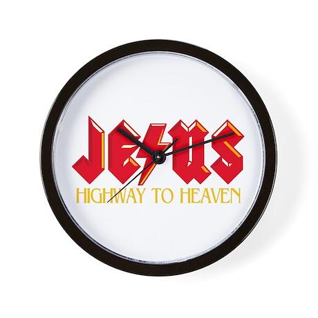 Jesus Highway to Heaven Wall Clock