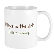 Plays in Dirt Small Mug