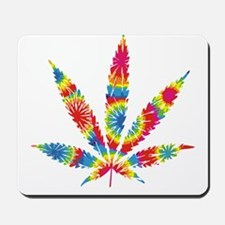 Rainbow Hippie Weed Mousepad