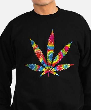 Rainbow Hippie Weed Sweatshirt (dark)