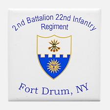 2nd Bn 22nd Inf Reg Tile Coaster