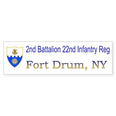 2nd Bn 22nd Inf Reg Sticker (Bumper)