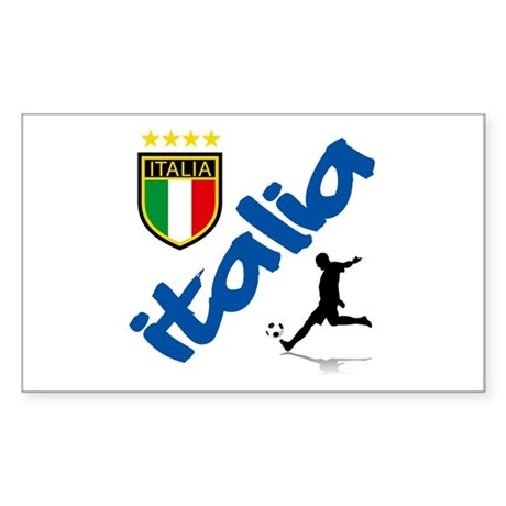 Italian World Cup Soccer Sticker (Rectangle)