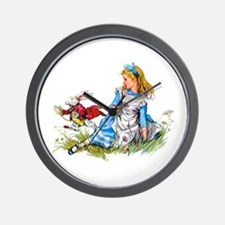 ALICE & THE RABBIT Wall Clock