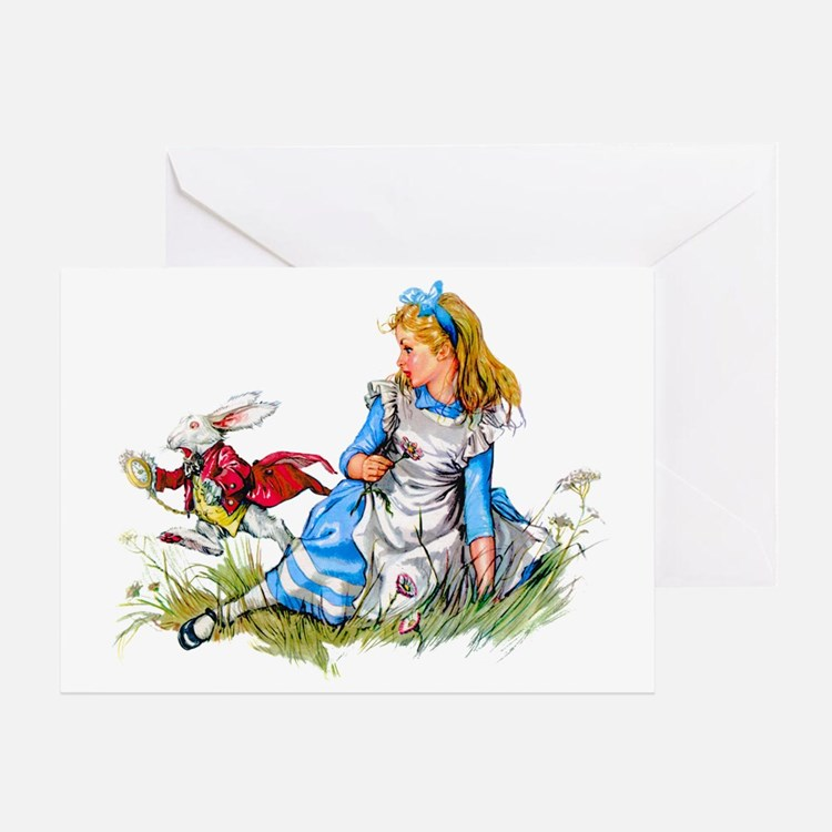 ALICE & THE RABBIT Greeting Card