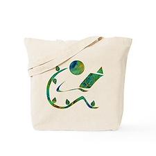 Green Reader Tote Bag