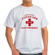 Outer Banks Lifeguard Off Duty Save Yourself T-Shirt
