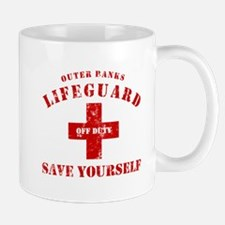 Outer Banks Lifeguard Off Duty Save Yourself Mug