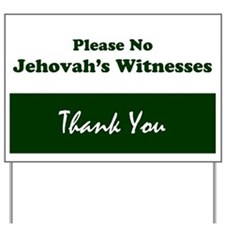 Funny Witness Yard Sign