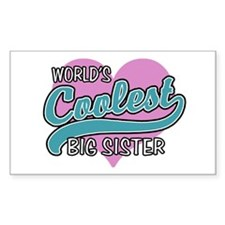 World's Coolest Big Sister Decal