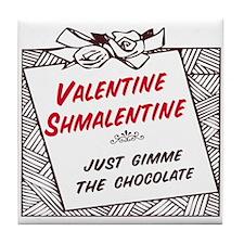 Valentine Shmalentine Tile Coaster
