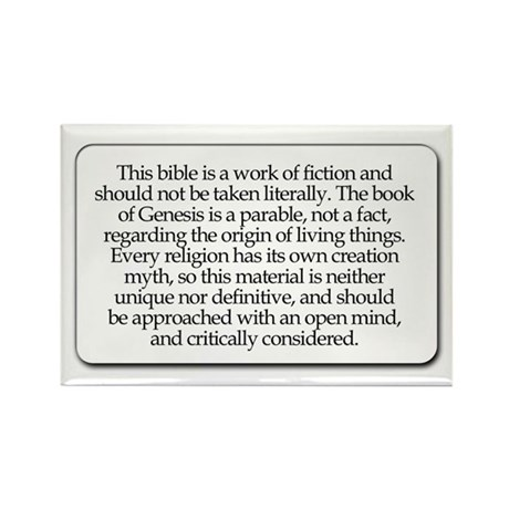 Bible Disclaimer Rectangle Magnet (10 pack)