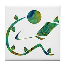 Green Reader Tile Coaster