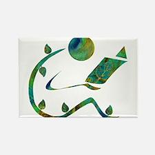 Green Reader Rectangle Magnet (10 pack)