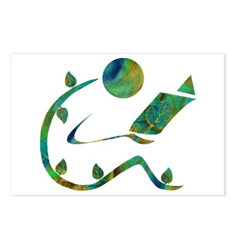 Green Reader Postcards (Package of 8)