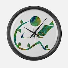 Green Reader Large Wall Clock