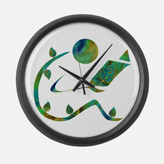 Green Reader Large Wall Clock
