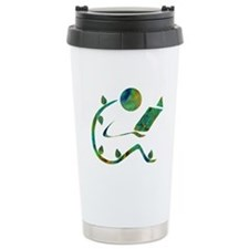 Green Reader Travel Mug