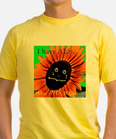 ALS Find a Cure Sunflower T