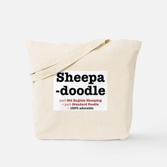 Sheepadoodle Tote Bag