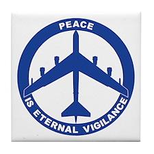 B-52H Peace Sign Tile Coaster