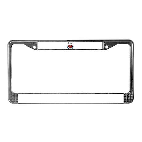 Hope License Plate Frame