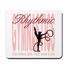 "Pink ""Rhythmic Gymnastics"" Mousepad"