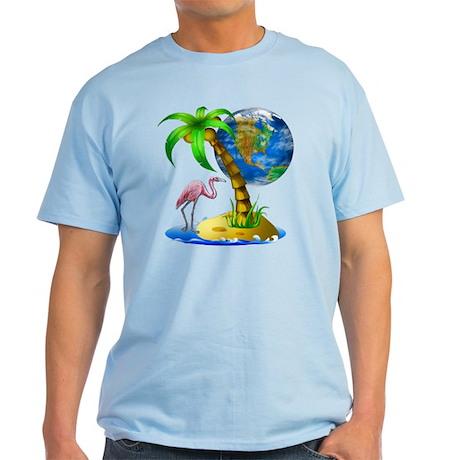 Flamingo Earth Palm Light T-Shirt
