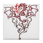 Fire Breathing Tattoo Dragon Tile Coaster